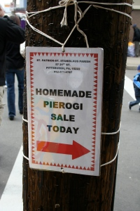 This was the sign that initially caught our eye, and sent us on a Pierogi hunt.  Never mind that we had had Pierogi the night before.  When in Pittsburgh...