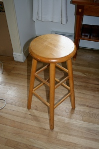 The stool that is too high for a desk