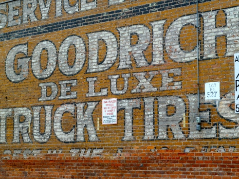Urban decay can sometimes do more preservation than any other force, when it comes to signs.