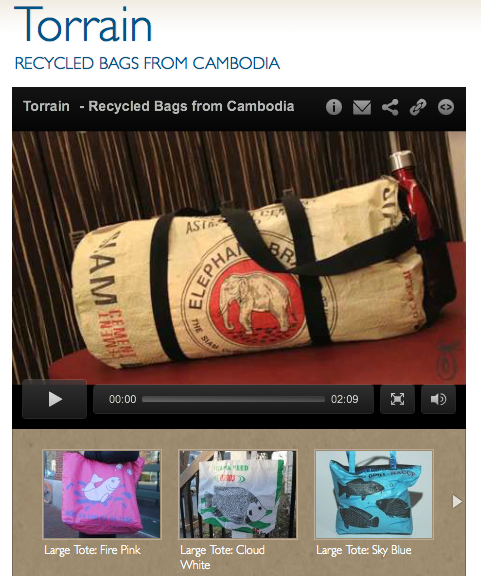 TORRAIN, Recycled bags from Cambodia