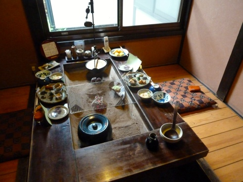 "Or in a private dining room like this.  In either case, due to the remote locations and the privacy instilled, you barely even see other guests at a ryokan.  We learned to gauge their ""fill rate"" by the number of shoes and slippers increasing and decreasing at the entrance ways."