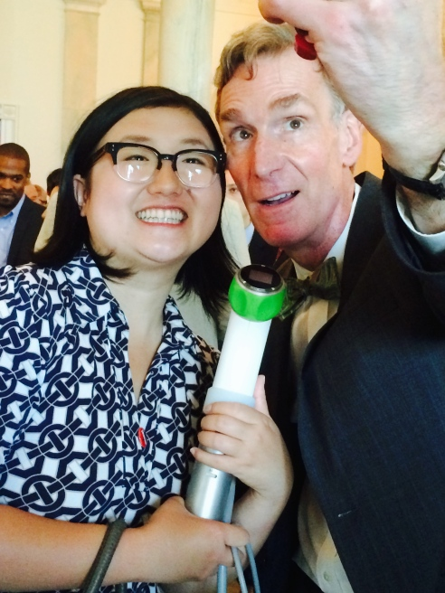 Bill Nye with one of our Grommet Makers, Lisa Fetterman.  He was very accommodating with the selfie action.  My son could not believe I talked to him and did not ask for a photo.  Ditto with Will.i.am.  I did not recognize him, truth be told.