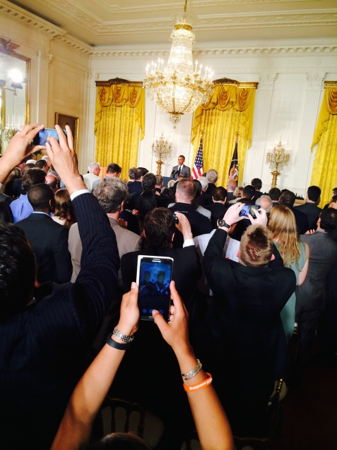 This was my vantage point during the President's remarks