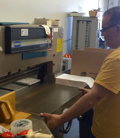 Cruz manning the  machine.