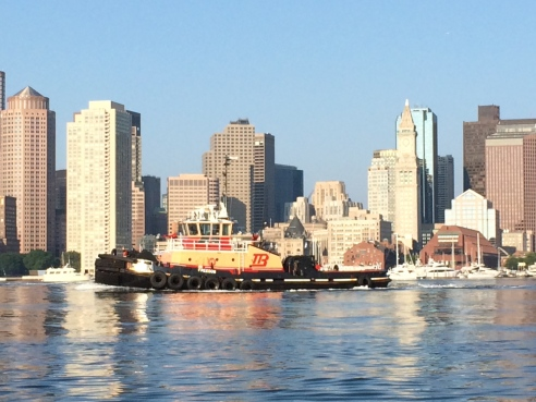 A Boston tugboat I snapped on an early summer morning, from the water taxi.