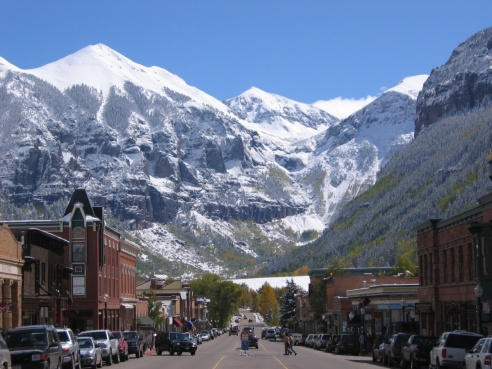 Telluride's main drag:  Colorado St.