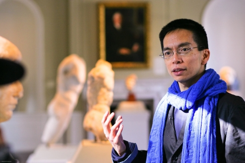 John Maeda in the RISD Museum's Roman Gallery