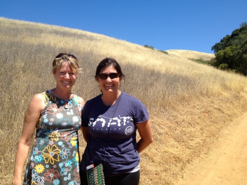 Me, in my own Nuu-Muu dress, with my Grommet co-founder Joanne, sweating in the hills south of San Francisco