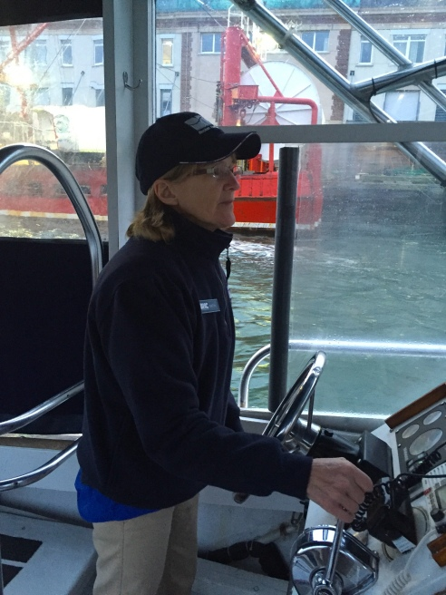 There are about 30 Boston Harbor captains. Four are women.